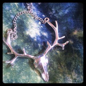 Jewelry - Deer skull/rack. Sterling sliver 🦌💀